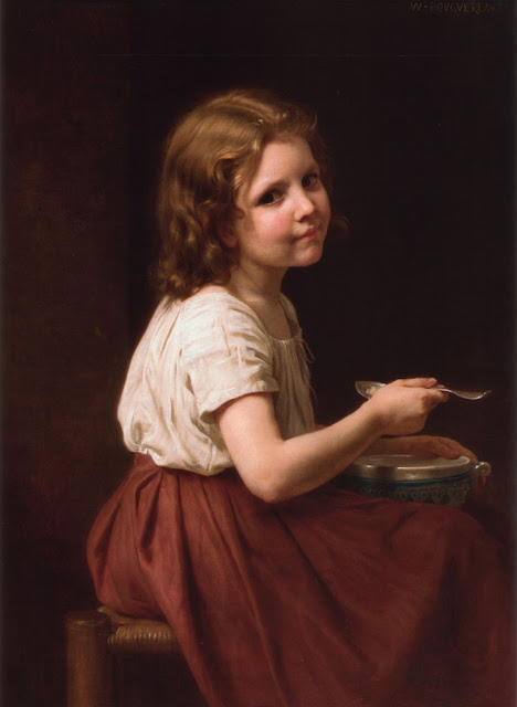 soup,Bouguereau,genre painting