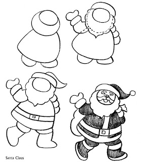 Easy Santa Claus Drawing For Kids Images & Pictures - Becuo
