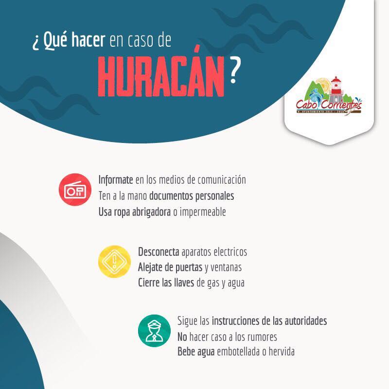 HURACANES CABO CORRIENTES