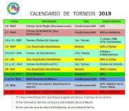 Calendario de Torneos 2018