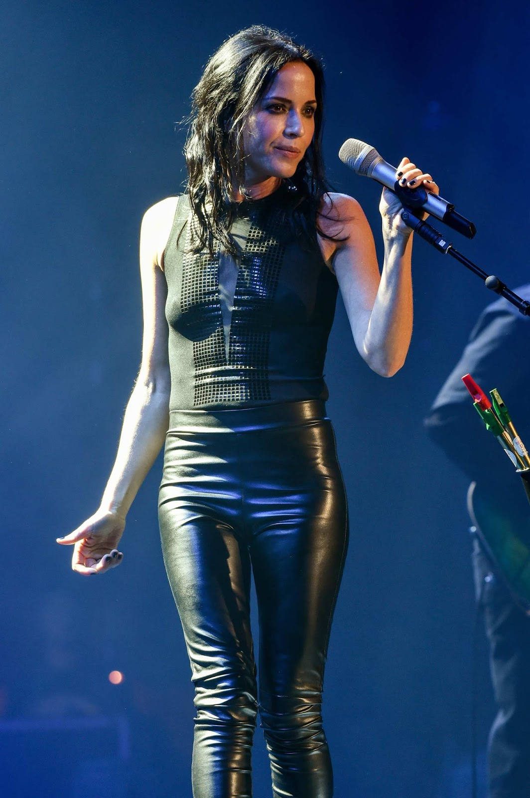 lovely ladies in leather andrea corr in leather pants