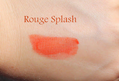 YSL Vernis À Lèvres Pop Water Glossy Stain in 202 Rouge Splash Swatch