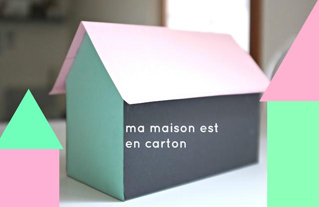 Julie adore diy ma maison est en carton - Patron maison en carton ...