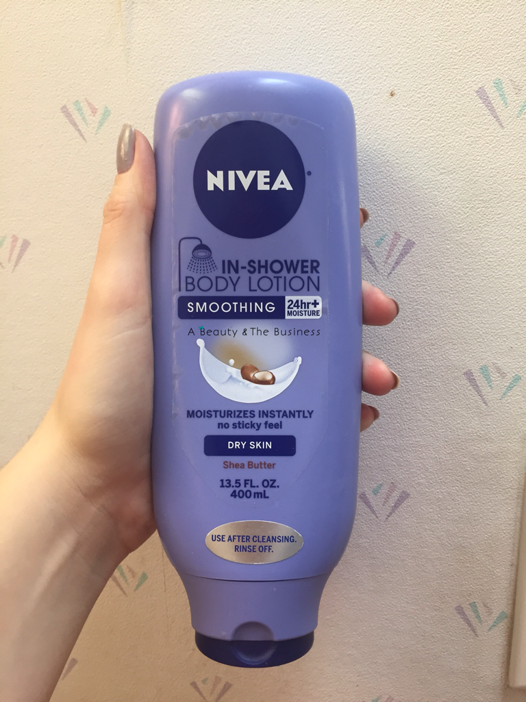 a beauty and the business, in shower lotion review, nivea in shower conditioner review, Nivea In Shower Lotion: Shea Butter Review, nivea review, skin care review,