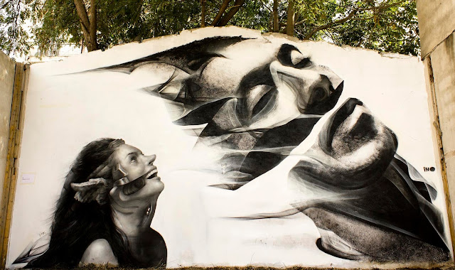 Street Art Collaboration By iNO and George Kavounis In Athens, Greece 1