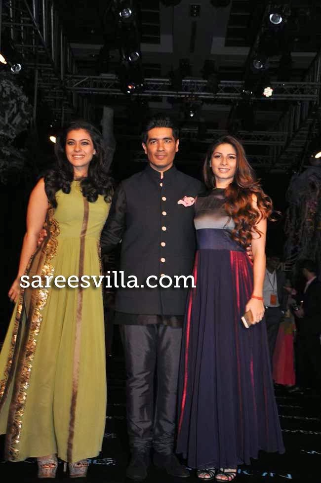 kajol, Tanisha and Manish Malhotra