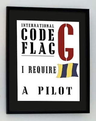 graphic poster with nautical code design