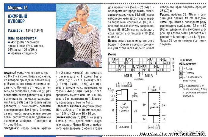 Ажурное вязание для женщин с описанием 566