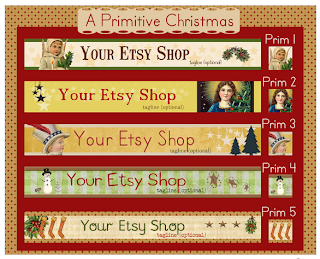 Christmas banners for Etsy shops