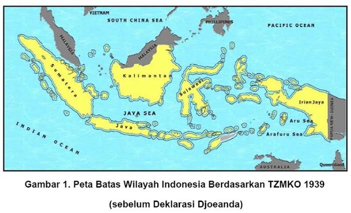 Peta Wilayah Indonesia Menurut Deklarasi Djuanda