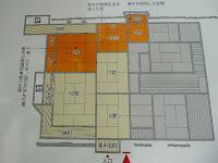 「啄木新婚の家」の見取り図。