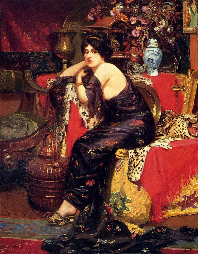 Frederic Louis Leve harem beauty