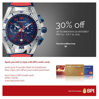 bpi credit card promo, Technomarine sale, discounts