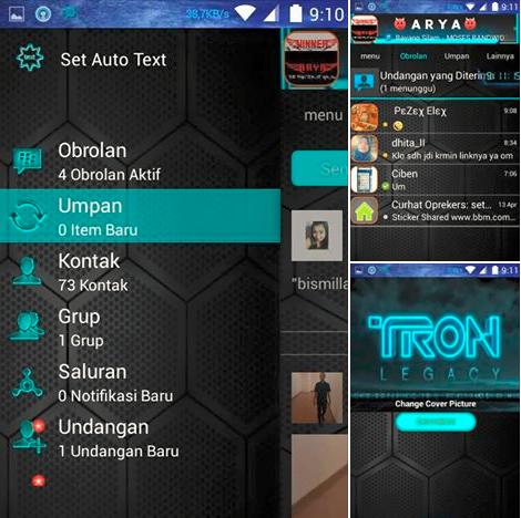 Droid Chat! v3.5.03 Tron Legacy Blue