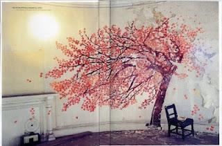 Cherry tree stencil