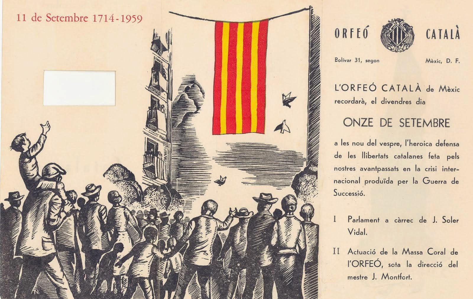 Conmemoració 11 de setembre 1959