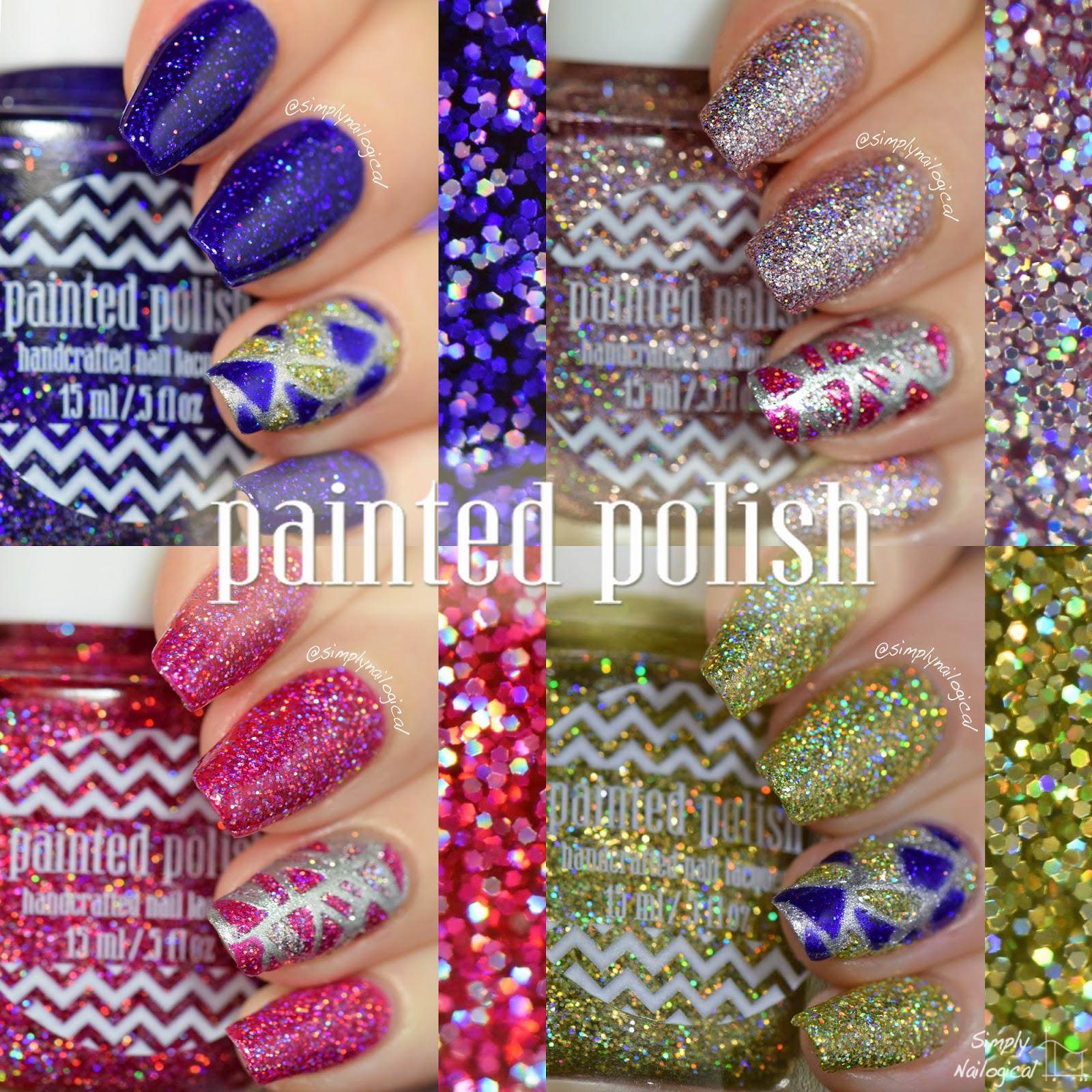 Painted Polish holo glitters