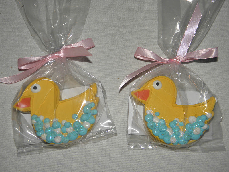 rubber ducky cookie favors rubber ducky baby shower