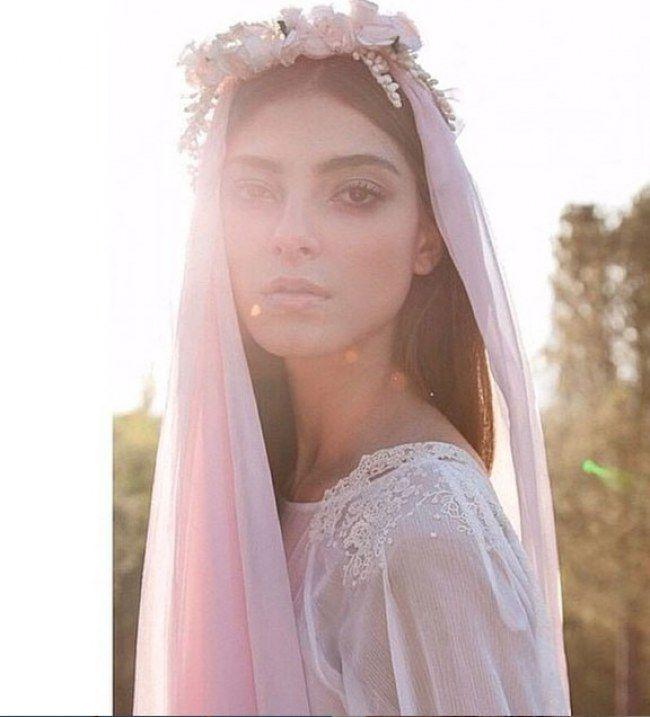 Los velos con colores empolvados ideales para las novias más top ...
