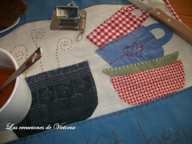 Las creaciones de Victoria. Patchwork. Mantel individual