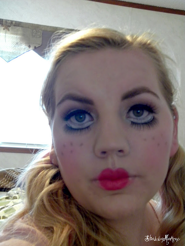 Shabby Makeup and More: Rag Doll/Baby Doll Halloween Makeup