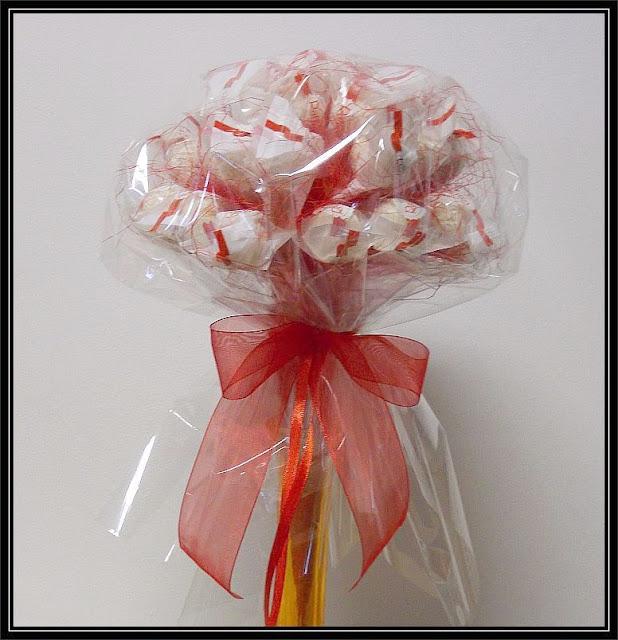 bukiet z cukierków Raffaello Rafaello