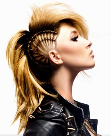 Chic Punk Braided Hairstyle