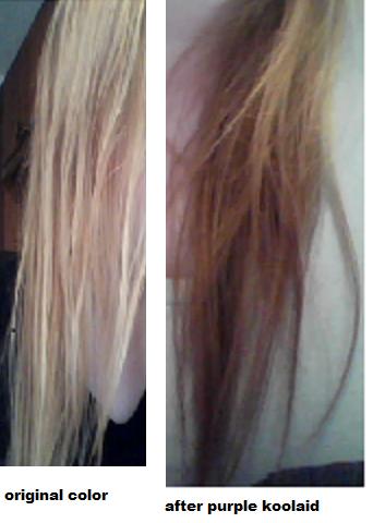 Kool Aid Hair Dye: Purple Koolaid Dip Dye