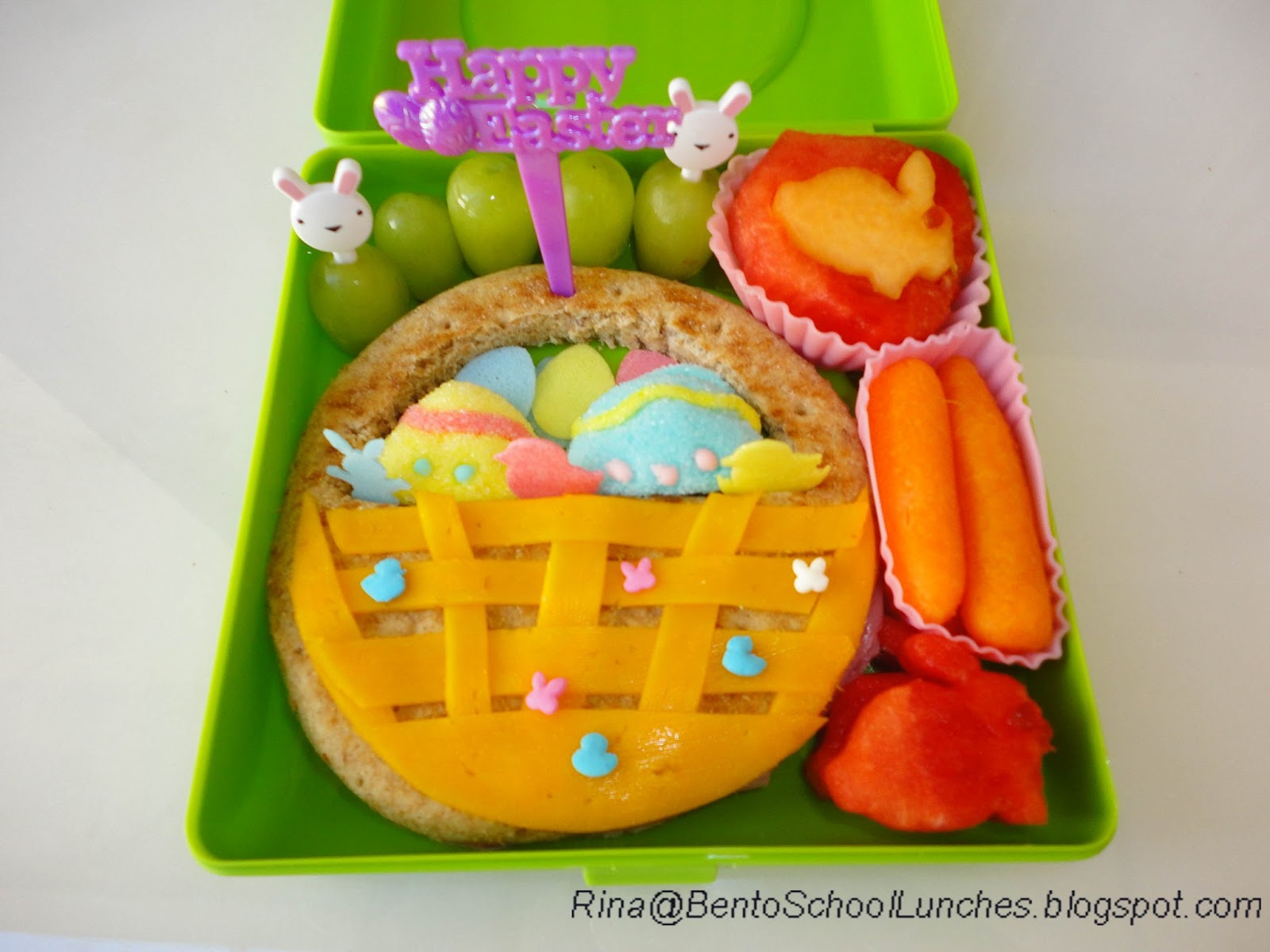 Bento school lunches happy easter bento lunch 264 easter basket easter basket bento school lunch negle Images