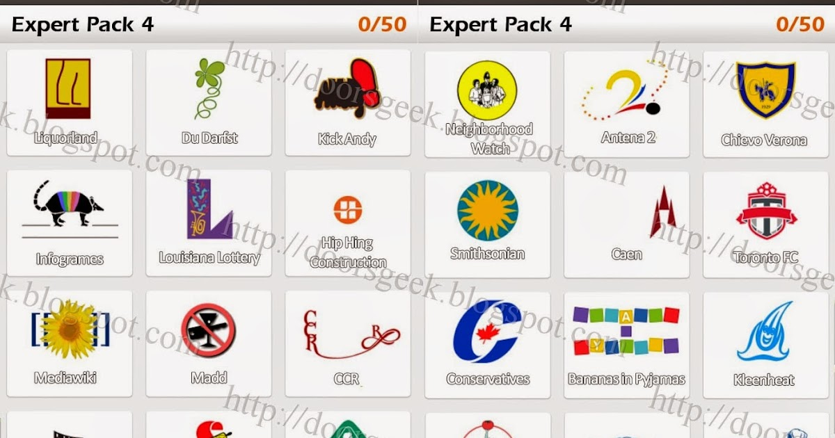 Logo quiz answers pack 4 facebook