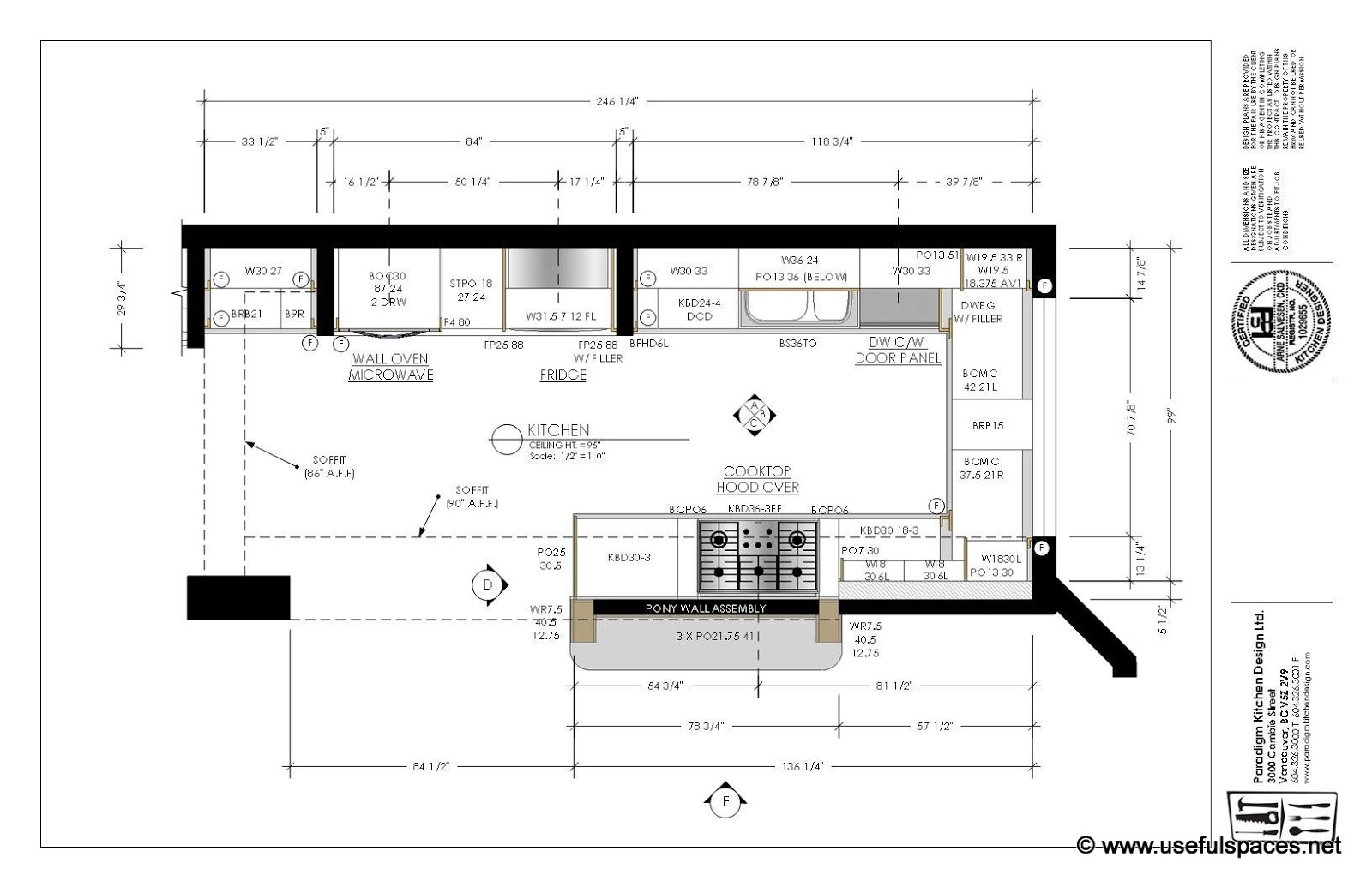 Professional Kitchen Layout