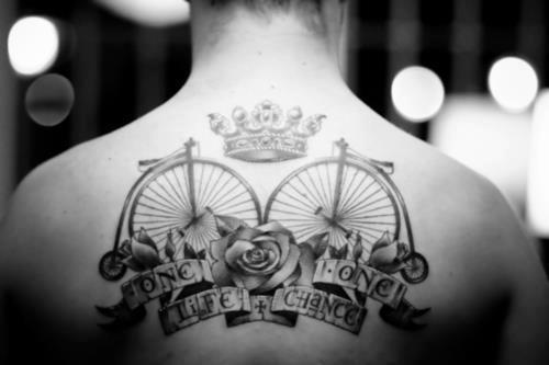 Penny Farthing Tattoo Design