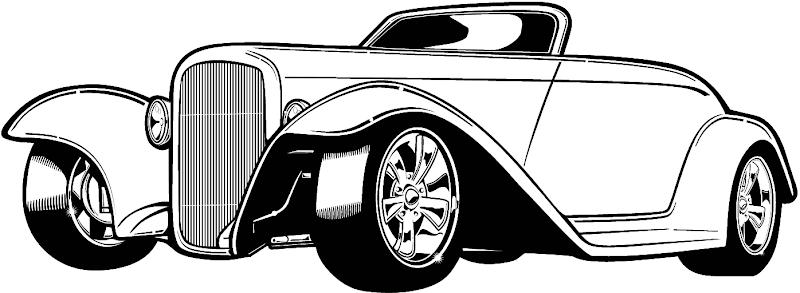 Classic Car Silhouette Clip Art 8 Image Coloringsnet