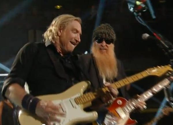 Photo of Joe Walsh & his friend  Billy Gibbons