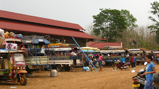 Estación de bus de Pakse, Laos.