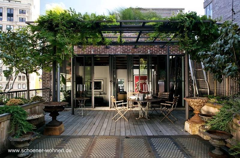 Arquitectura de casas terrazas de casas y en edificios for Terrazas rusticas techadas