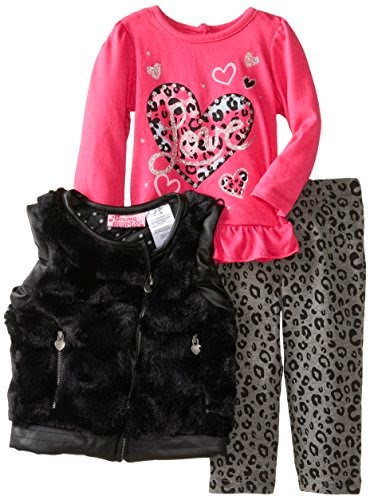 Young Hearts Baby-Girls Infant Three-Piece Love Vest And Pant Set