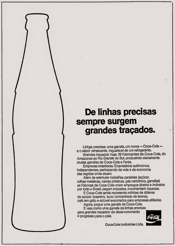 coca cola, década de 70. os anos 70; propaganda na década de 70; Brazil in the 70s, história anos 70; Oswaldo Hernandez;