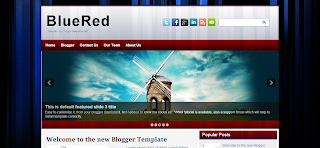 BlueRed Blogger Template is a clean and simple blogger theme