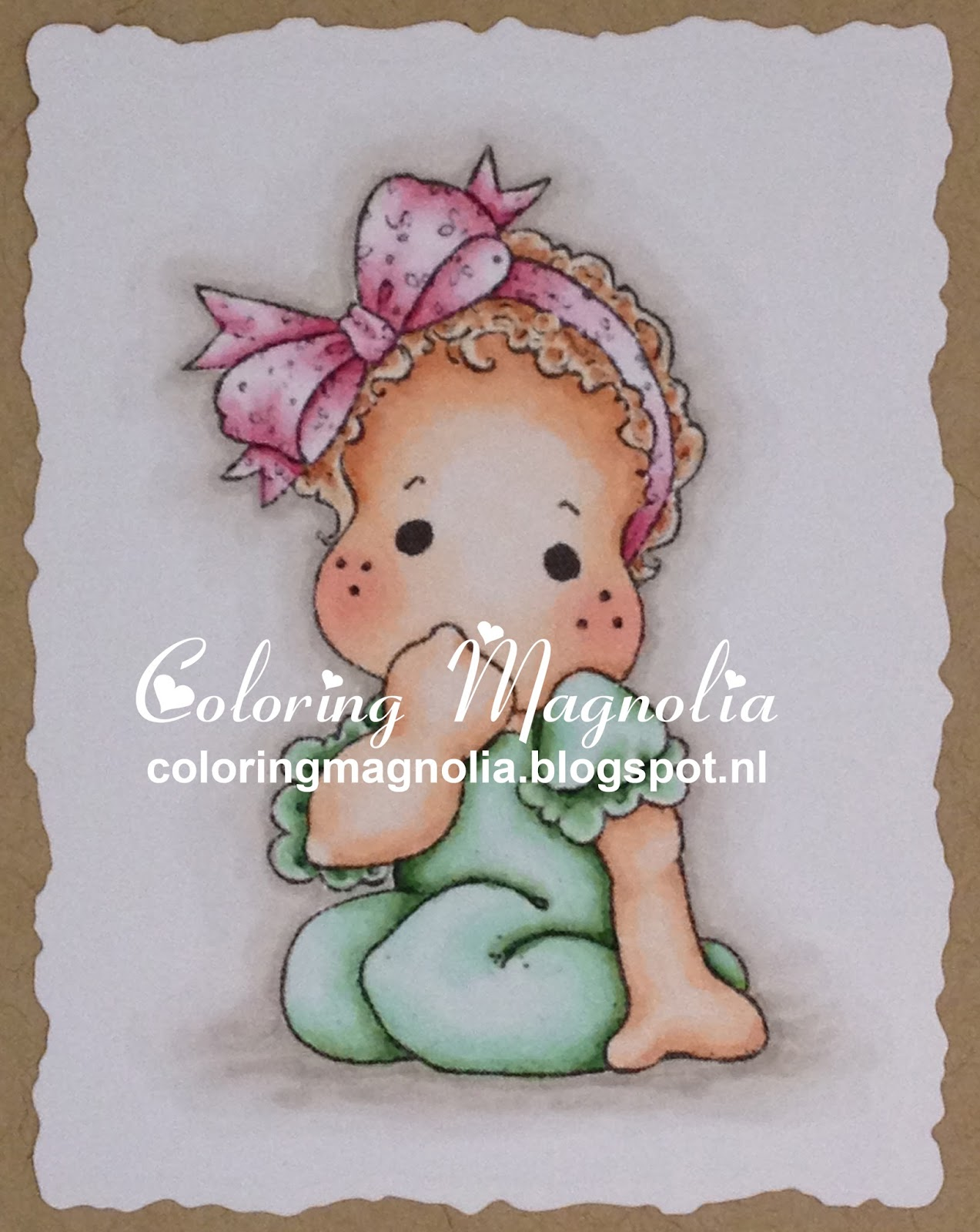 Coloring Magnolia Stamp 2013 Special Moments Collection - Little cute Tilda