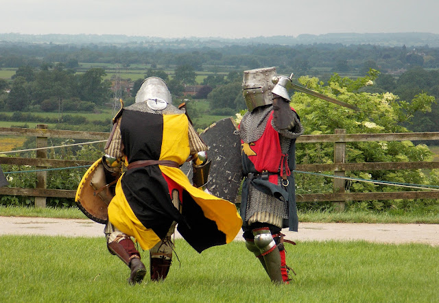medieval knights sword fight battle