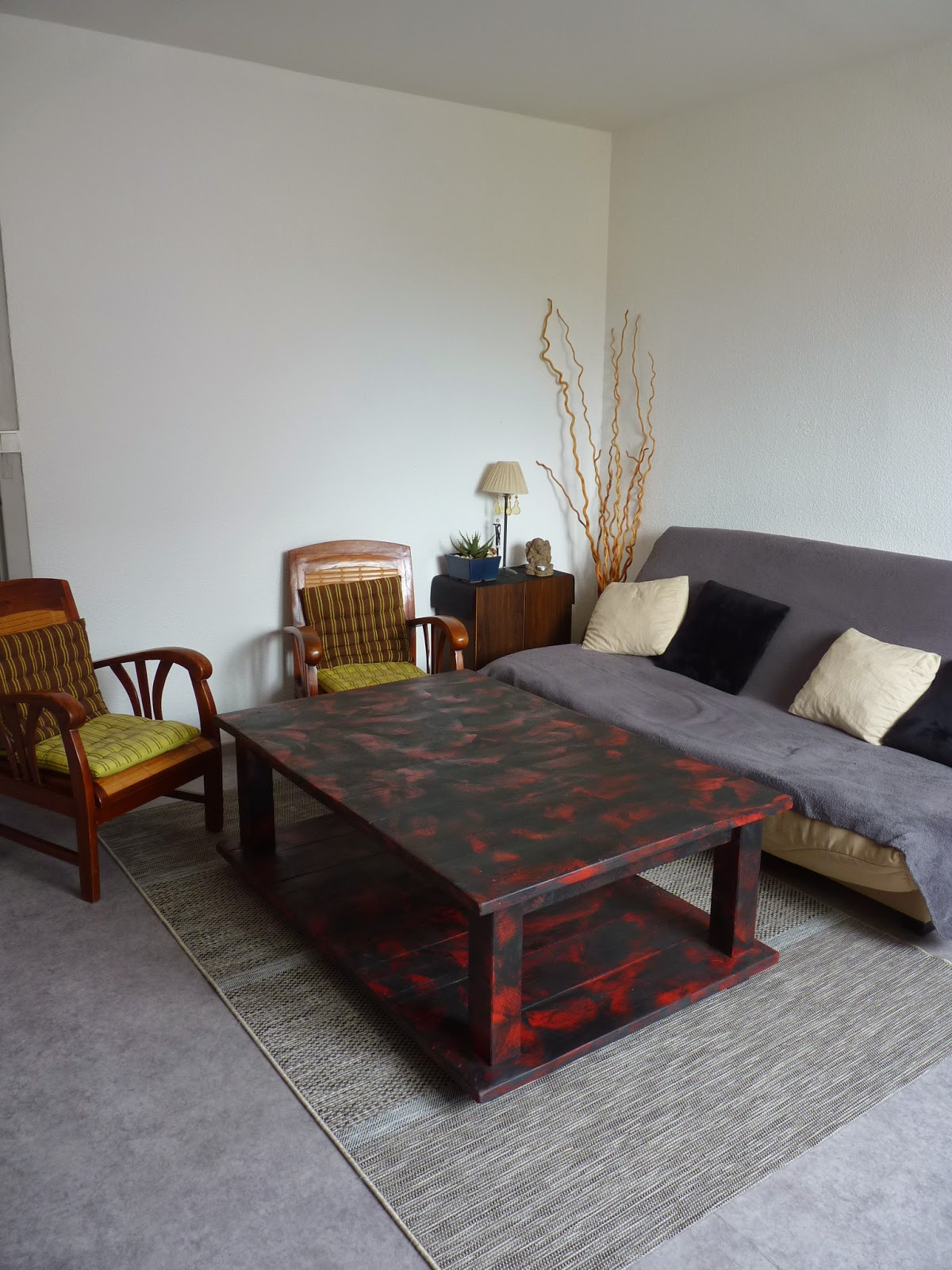 le re acteur table basse grosse palette grand format coffee table with big pallet large size. Black Bedroom Furniture Sets. Home Design Ideas