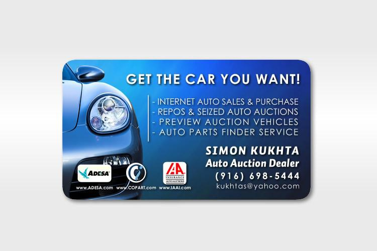 15+ Attractive Business Card Samples for Car Dealer ~ Resources ...