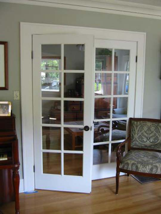 New masonite glass interior doors for Small double french doors