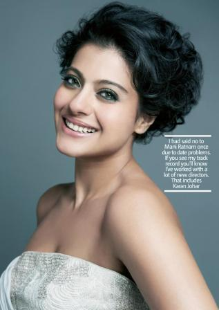 Kajol Filmfare White Top Face closeup - Kojal Hot Filmfare Magazine Photoshoot