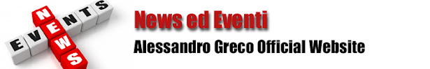NEWS - Alessandro Greco Official Website