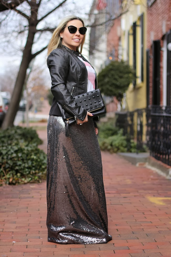 Michael Kors Sequin Skirt from TJ Maxx
