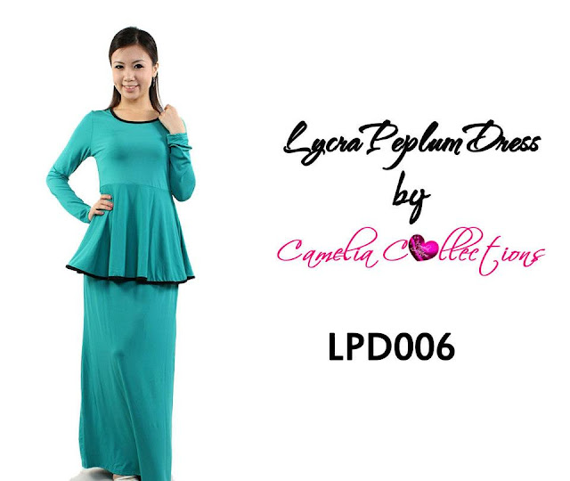 lycra peplum dress turquoise