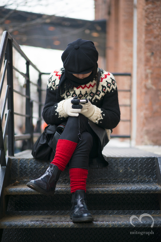 STREET Snap hunter Keisuke Fujita at New York Fashion Week 2014 Fall WInter NYFW