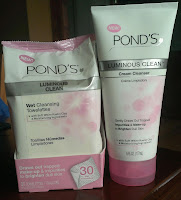 Laurel Likes It Ponds Luminous Clean Cream Cleanser and Towelettes